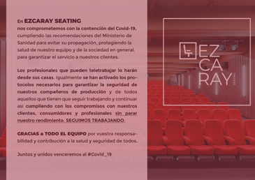 EZCARAY SEATING ENGAGED TO THE CONTAINEMENT OF COVID-19