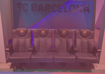 EZCARAY SEATING IN THE FLAGSHIP STORE OF THE FOOTBALL CLUB BARCELONA